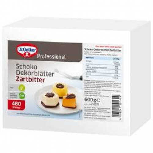 Dr. Oetker Zartbitter-Schoko-Dekorblätter, 600 g